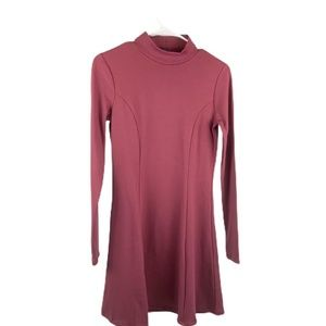 Long Sleeve, High Neck, Mauve Fall Dress!